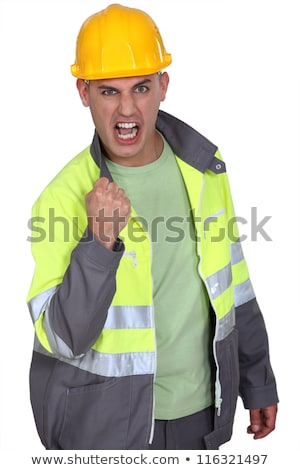 Aggressive construction worker rejoicing Stock photo © photography33