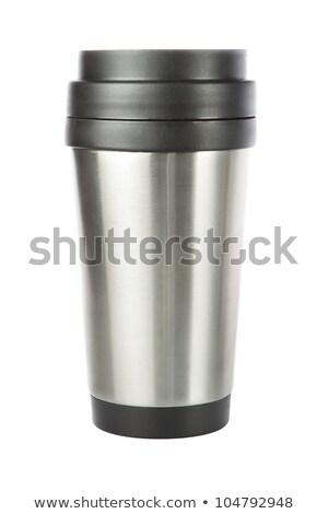 Thermos travel tumbler, cup. Closeup. Stock photo © ozaiachin