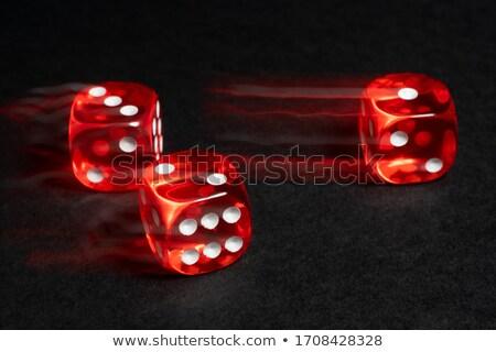 Zuhan kocka bemozdulás fehér fekete kaszinó Stock fotó © winterling