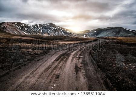 muddy road Stock photo © mtkang