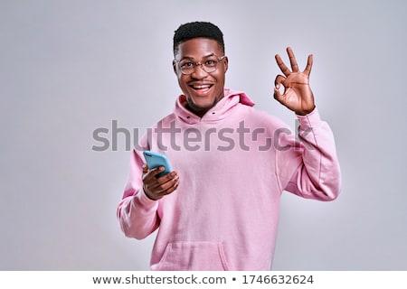 Männlich Hand Zeichen Positivität Stock foto © Len44ik