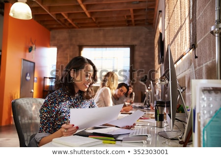 businessman in the modern office stock photo © ssuaphoto