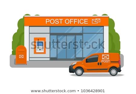 ufficio · postale · auto · pacchetto · post · vettore · sfondo · bianco - foto d'archivio © zzve