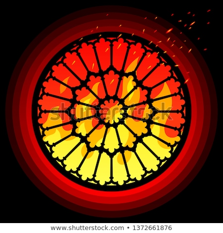 Rose Window of Notre Dame Cathedral Stock photo © Snapshot