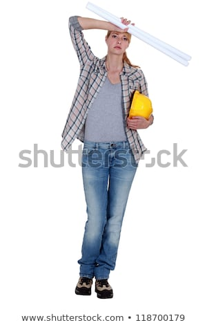 Portrait of an overworked draftswoman Stock photo © photography33