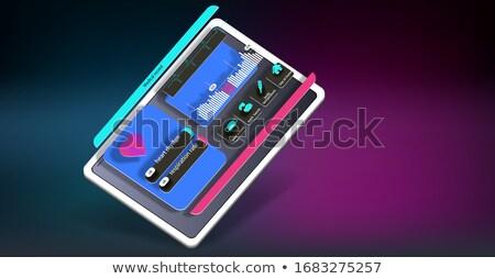 Tablet tıbbi omurga arayüz mavi mozaik Stok fotoğraf © wavebreak_media