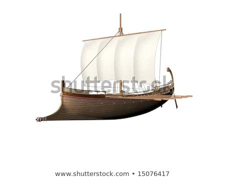 Eski Roma ticaret gemi Polonya 1960 Stok fotoğraf © PixelsAway
