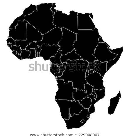 Africa map with Kenya Stock photo © Ustofre9