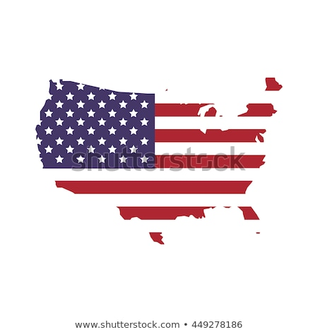 American flag and map Stock photo © marinini