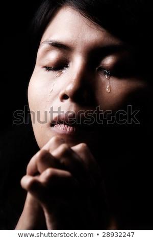 mulher · jovem · sofrimento · choro · pranto · cara · mulheres - foto stock © photography33