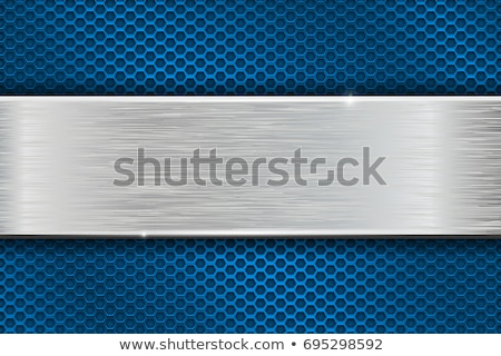 Mavi madeni delinme doku arka plan sanat Stok fotoğraf © MONARX3D