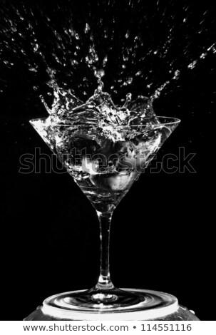 Martini glass neutro cor água isolado Foto stock © snyfer