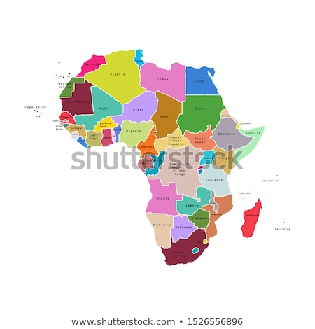 Africa map with Namibia stock photo © Udo Schotten (Ustofre9 ...