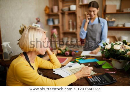 business owner counting money stock photo © arenacreative