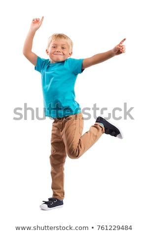 Portre Erkek Dans çocuk Arka Plan Boyama Vektör