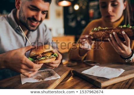 hamburger · Rood · vak · geïsoleerd · witte - stockfoto © ruslanomega