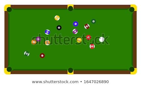 Medence játék golyók zöld háttér jókedv Stock fotó © Viva