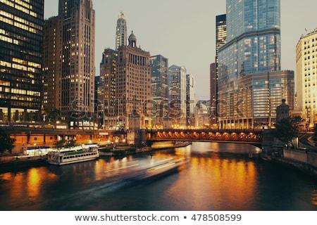 centro · da · cidade · Chicago · nuvem · cor · arranha-céu - foto stock © andreykr