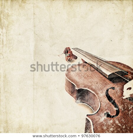 Сток-фото: Classic Violin On Grunge Paper Background