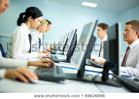 elektronika · képzés · felnőttoktatás · diák · tanul · transzformátor - stock fotó © simpson33