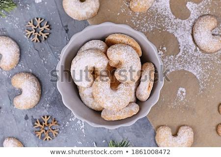 Birkaç Noel kurabiye zaman gıda şarap Stok fotoğraf © Tomjac1980