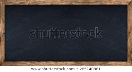 Zwarte schoolbord houten frame vector eps10 achtergrond Stockfoto © ildogesto