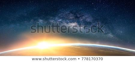 pôr · do · sol · terra · nuvens · oceano · viajar · noite - foto stock © mike_kiev