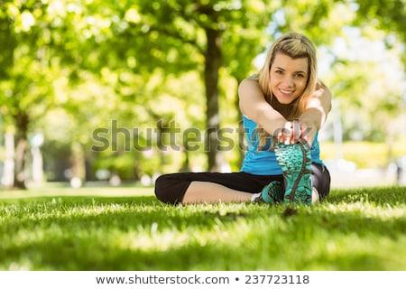 Esbelto encajar primavera belleza retrato blanco Foto stock © lithian
