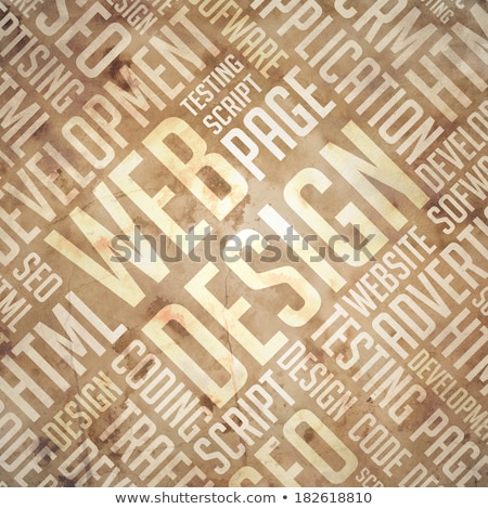 Web Design - Grunge Beige-Brown Wordcloud. Stock photo © tashatuvango