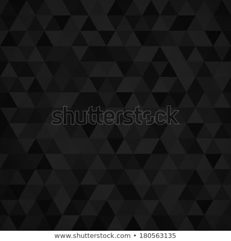 Geometric mosaic pattern from black triangle Stock photo © sidmay