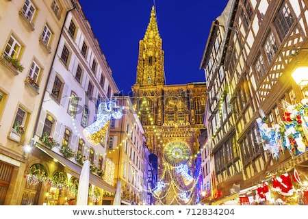 Strasbourg cathedral and Christmas Market Stock photo © ifeelstock