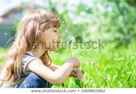 девочку белый небе текстуры Сток-фото © nizhava1956