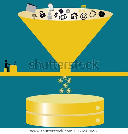 Data Mining Concept. Vintage design. Stock photo © tashatuvango