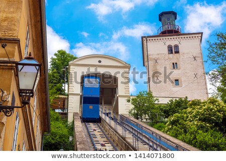 Zagreb · seguir · um · casa · edifício · laranja - foto stock © joyr