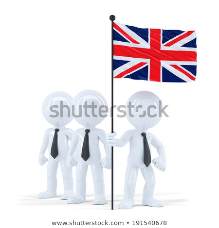 business team holding flag of uk isolated contains clipping path stock photo © kirill_m