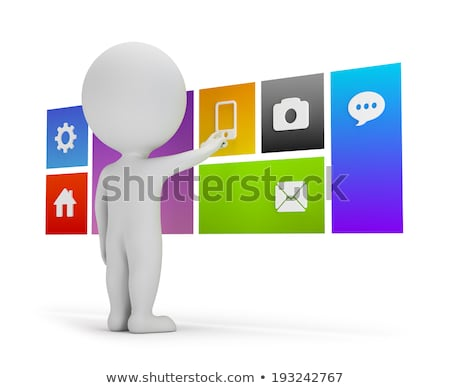 3d small people - flat interface Stock photo © AnatolyM