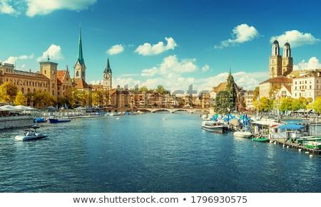Zurique · cityscape · Suíça · negócio · água - foto stock © lightpoet