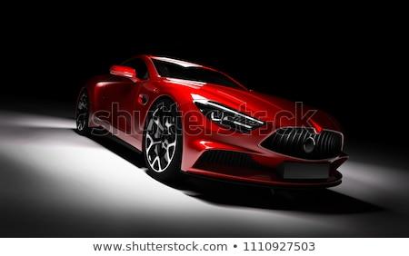 Rouge sport voiture modèle art Voyage Photo stock © cla78