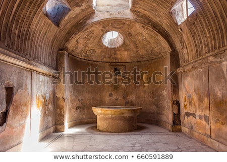 Stock photo: The ancient Roman city of Pompeii.