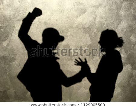 Couple issues with angry man hurting and beating wife Stock photo © diego_cervo