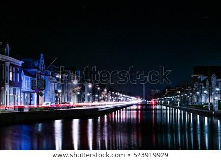 typowy · domów · Holland · miasta · kanał · centrum - zdjęcia stock © lypnyk2