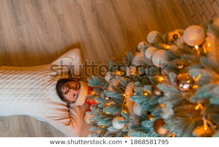 picture from above of a relaxed young casual man stock photo © feedough