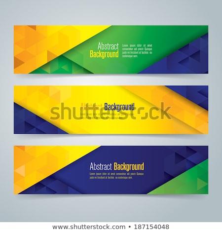 abstrato · geométrico · Brasil · bandeira · útil · cobrir - foto stock © sdmix