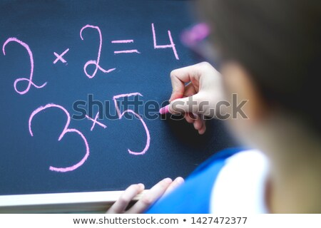 astucieux · mains · fille · étudiant · éducation - photo stock © pressmaster