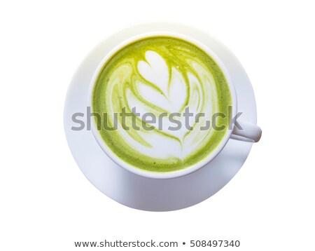 ガラス ホット 緑茶 コーヒーショップ 水 背景 ストックフォト © nalinratphi