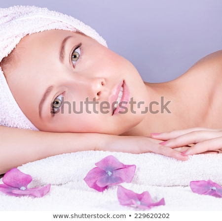 Stunning young woman relaxing in a spa Stock photo © dash