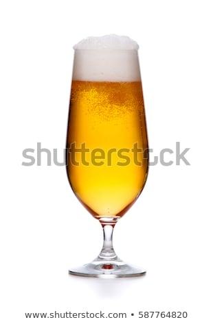 Elegant glass of cold refreshing beer Stock photo © juniart