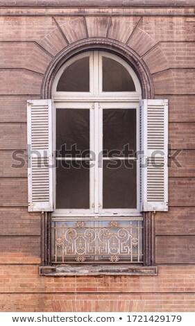 Starych barokowy okno zamknięty widoku Zdjęcia stock © stevanovicigor