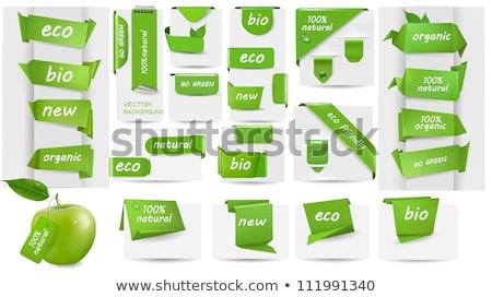 Verde etichette internet etichetta cerchio riflessione Foto d'archivio © vadimone