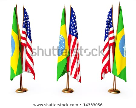 Brasilien Miniatur Fahnen Union Stock foto © tashatuvango
